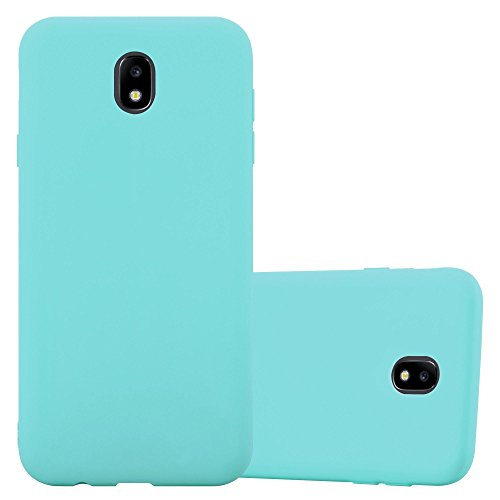 Cadorabo Hülle für Samsung Galaxy J3 2017 EU Version in Candy BLAU - Handyhülle aus flexiblem TPU Silikon - Silikonhülle Schutzhülle Ultra Slim Soft Back Cover Case Bumper