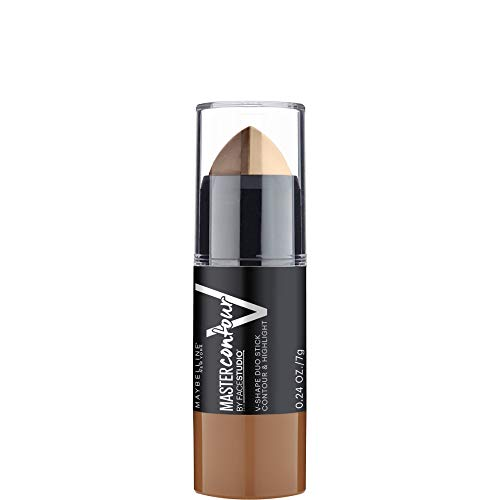 Maybelline New York Master Contour Stick Contouring 2 in 1 per Illuminare e Scolpire, Finish Mat e Duraturo, Medium