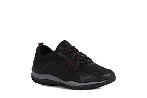 Geox Mujer Zapatos con Cordones KANDER,señora Zapatos Deportivos,Calzado,con Cordones,para Exterior,Deportivo,Removable Insole,Schwarz,39 EU/6 UK