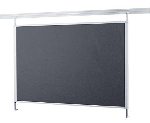 Legamaster 7-321571 Pinboard Textil für Legaline Dynamic Schienensystem, 100 x 120 cm, weißer Rahmen, graue Fläche