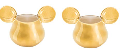 Joy Toy 62149 MICKEY MOUSE DELUXE 3D GOLDIGE ESPRESSO TASSEN 13X8X8 CM, gold