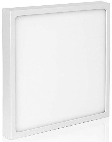 Ultraslim LED 12W eckig - Aufbau Panel 230V - 24mm flach - Aluminium-Druckguss - 900lm - 140x140x23.5mm - warmweiß (3000 K)