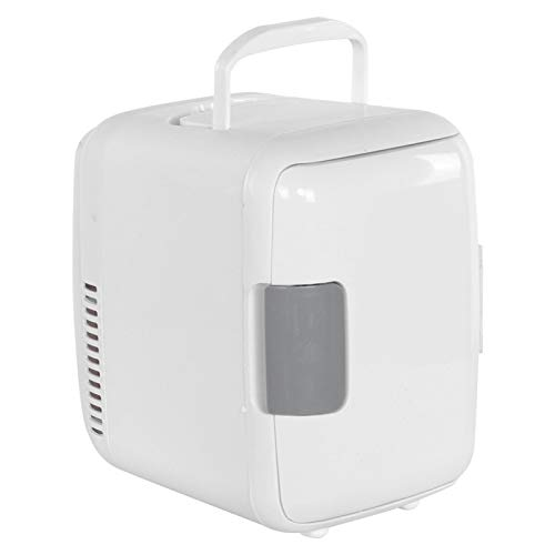 Emoshayoga Mini frigorífico portátil portátil Nevera portátil Compacto para Oficina para el hogar(White)