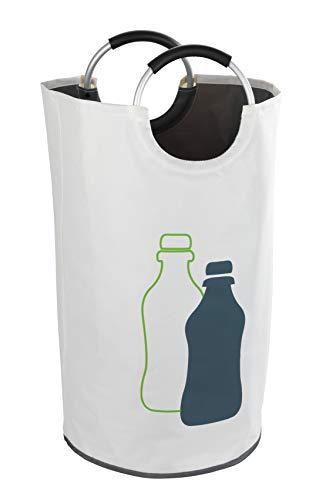 WENKO Flaschensammler Jumbo - Wäschesammler, Multifunktionstasche Fassungsvermögen: 69 l, Polyester, 38 x 72 x 38 cm, Beige