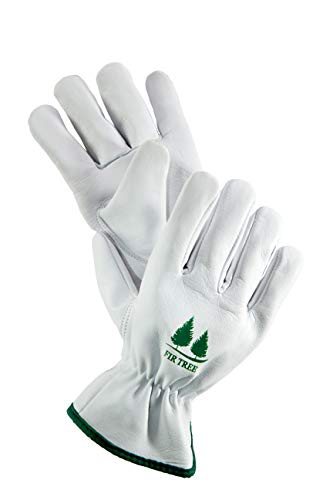 Leather Work Gloves. Goatskin Utility Gloves for Garden and Outdoor Work.Md 8