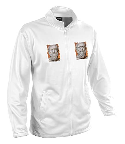 MERCHANDMANIA Chaqueta Tecnica con 2 Dibujos PLATON PLATÓN FILOSOFO Historia 2 Logos Jacket