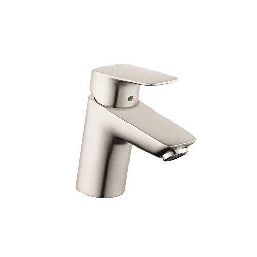 hansgrohe Logis Modern Low Flow Water Saving 1-Handle 1 5-inch Tall Bathroom Sink Faucet in Brushed Nickel, 71070821