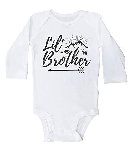 Lil' Brother süßer Body für Kinder, süßes Outfit für kleine Brüder Gr. 86, weiß