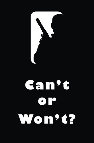 Can't or Won't?: Blank Journal & Spy Quote