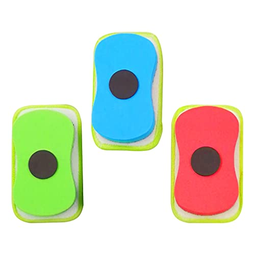 Yardwe 3 Piezas Borradores de Borrado en Seco EVA Esponja Tiza Borrador Lavable Pizarra Borradores Pizarra Magnética Borrador Limpiador Limpiaparabrisas para Niños Salón de Clases
