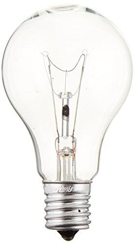Sylvania 16069 Incandescent 60w A15 Clear Fan Lamp Intermediate Base 120v, 2 Piece