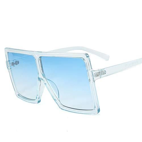 ShZyywrl Gafas De Sol De Moda Unisex Gafas De Sol Cuadradas De Gran Tamaño Vintage para Mujer, Tonos Degradados, Parte Superior Plana, Gafas De Sol para Hombre