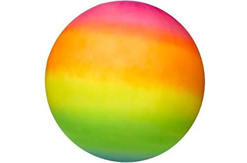 48660- Riesiger PVC Ball 40 cm, in Regenbogenfarben, Wasserball, Fussball, Strandball, Fußball, Spielball