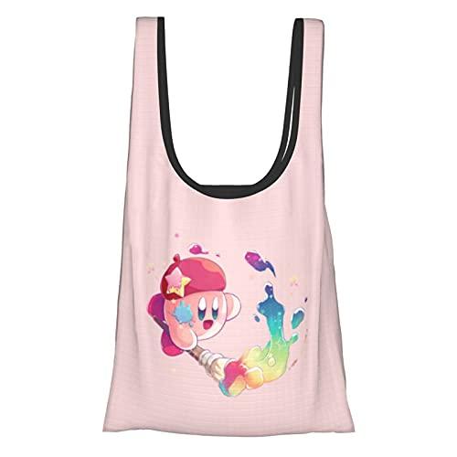 星のカービィ カービィ Kirby エコバッグ 折りたたみ 買い物袋 人気 耐久 潮流 大容量 防水 多機能 コンパクト レジ袋 携帯便利軽量 繰り返し洗え グッズエコバッグ 男女兼用