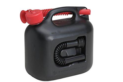 ヒューナースドルフ Hunersdorff 燃料タンク [ 安心の正規品 保証付 ]ポリタンク フューエルカンプレミアム 5L ウォータータンク 燃料 ホワイトガソリン 灯油 タンク キャニスター キャンプ (ブラック)