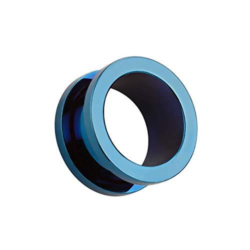 AchidistviQ 1 pendientes unisex para hombres y mujeres, hipoalergénicos para orejas, para regalo de cumpleaños, color azul, 8 mm