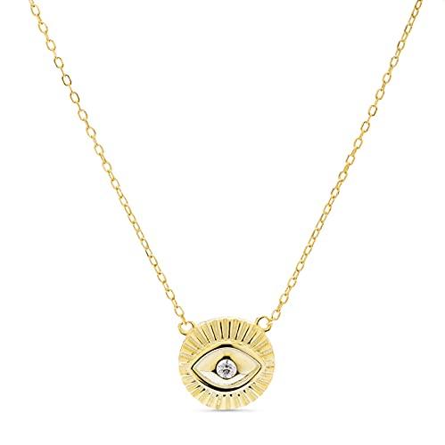 LUXENTER Collar Lyphie con baño de Oro Amarillo de 18 Quilates
