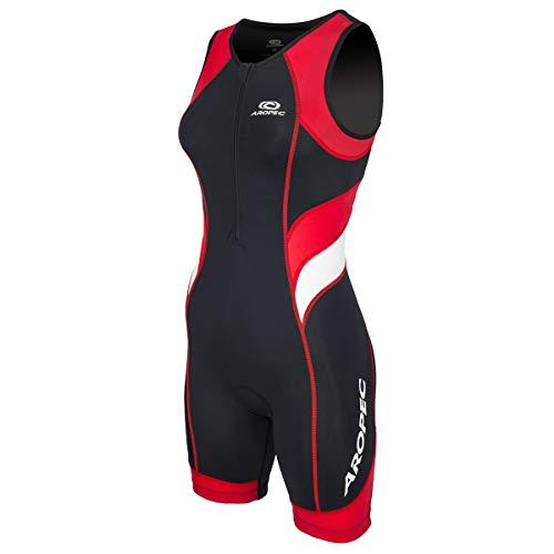 Aropec Triathlon Einteiler Lion Damen - Trisuit Women, Größe:S, Farbe:schwarz/rot