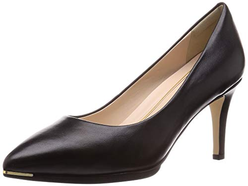 Cole Haan womens Grand Ambition (75mm) Pump, Black Leather Tonal Os & Sole Edge Brushed Gold Hw, 7 US