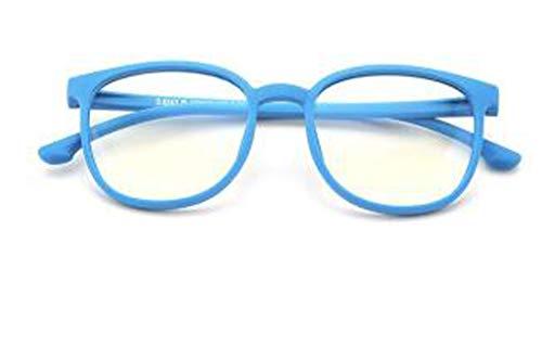 PLMOKN Gafas de computadora con Bloqueo de luz Azul para niños, protección UV Anti Fatiga Ocular Lente antideslumbrante para niños y niñas (5-12 años)(Skyblue) 🔥