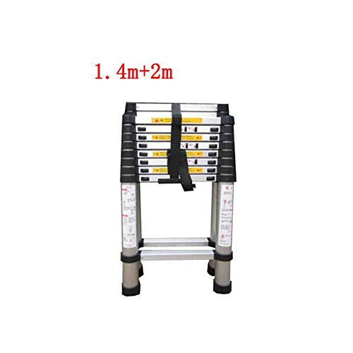 ZPWSNH huishoudtrap wacht niet op de ladder, de uittrekbare ladder van bamboe, de verdikking, het zout en de discesa van de aluminiumlegering, stapkruk