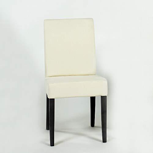 Lambert Andrew Stuhl Rücken hoch Sitz und Rücken Weißpolster, Beine Esche massiv, schwarz gebeizt, lackiert, 47 x 48 x 93 cm, Sitzhöhe 48 cm 56274