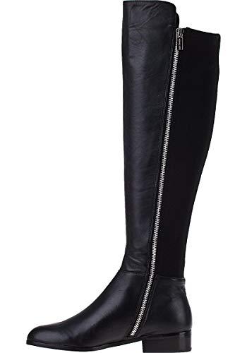 Michael Michael Kors Bromley Flat Boot Black Nappa/Sensitive Stretch 10