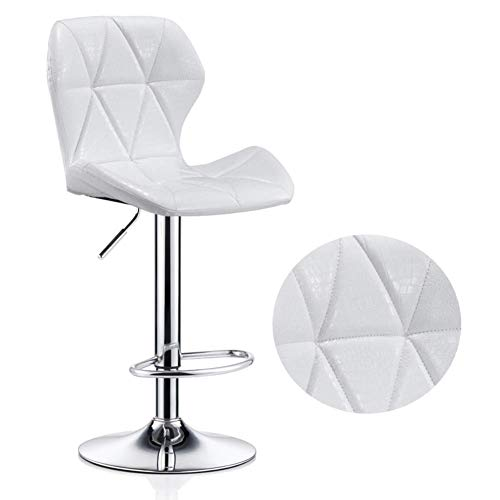Alvnd Fashion Square Metal PU-leer met verstelbare 360 graden draaibare barkrukken Theke/keuken/cafe zithoogte 60-80 cm