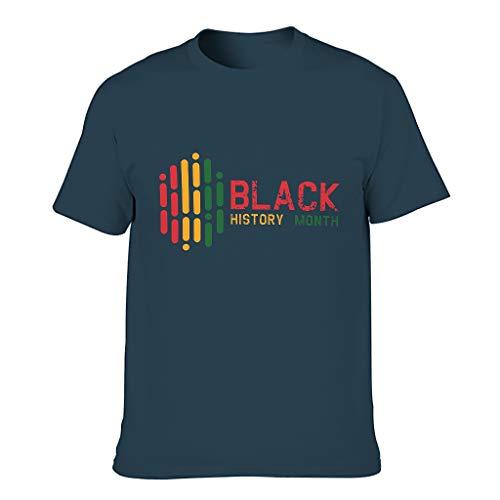 Camiseta negra con diseño de mes de historia para hombre, estilo europeo, con sensación cómoda, regalo para el día de San Valentín