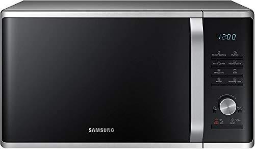 Samsung MG28J5255US/EC Microondas con Grill, 28 Litros de Capacidad, Potencia 1000W/1500W, Interior Cerámico Enamel, incluye Bol de Cristal, Color Negro y Gris