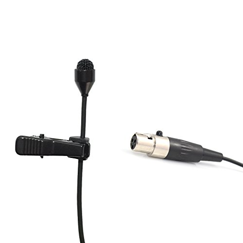 Pro Lavalier Lapel Microphone Microdot 6016 For AKG Wireless Transmitter - Omni-directional Condenser Mic 3 pin