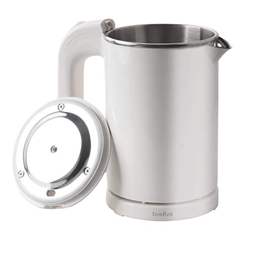 0.5L Portable Electric Kettle, Mini Travel Kettle, Stainless Steel Water Kettle - Perfect For Traveling Cooking Noodles, Boiling Water, Eggs, Coffee, Tea(White 110V)