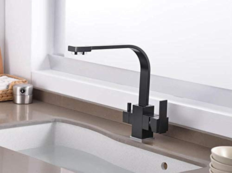 Filter Küchenarmatur Trinkwasser Einlochmontage Schwarz Heie und kalte Spülen mit reinem Wasser Einhebelmischer