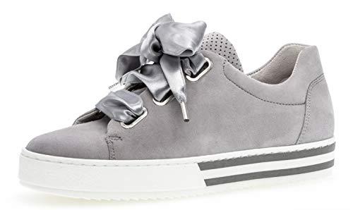 Gabor 26.505 Damen Sneaker,Skater Sneaker, Frauen,Sportschuh,Low-Top,Comfort-Mehrweite,Optifit- Wechselfußbett,Light Grey,6.5 UK