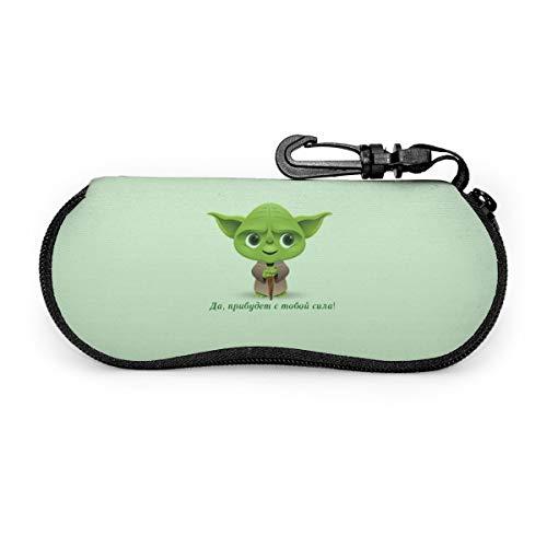 Star Wars - Funda para gafas de sol y gafas de sol, portátil, con cremallera, de neopreno, con clip para cinturón, diseño de Star Wars