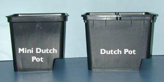 Grodan Dutch Pot with 2 elbows Black - 9'x12'x10'