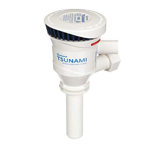 Attwood 4672-7 Tsunami 800 GPH Dual Outlet Aerator Pump (3-inch)