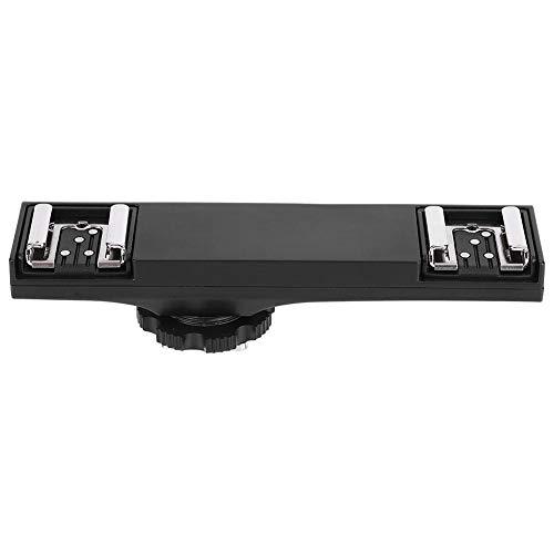 Cámara Doble Divisor de Zapata, cámara de retención de 3 kg Videocámara Soporte Doble Flash Speedlite Soporte de Disparador de luz para Nikon, para Olympus, para cámara Canon SLR(para Canon)
