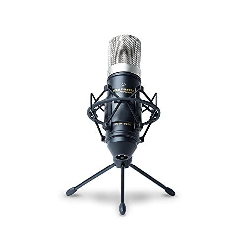 Marantz Professional MPM1000 - Großmembran Kondensatormikrofon mit Pop Schutz Filter, Shockmount, Tripod Ständer, XLR Kabel für Home Office oder Studio