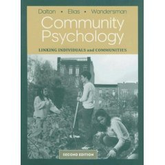Community Psychology: Linking Individuals and Communities