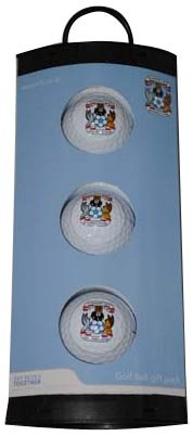 Coventry City 3 Pack Golf Ball Gift Set