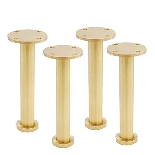 Furniture legs Piedi di mobili, 4 Gamba di Supporto in Rame Puro Divano Gamba Piede in Metallo Piedistallo TV Gambe Tavolo da tè (Oro)