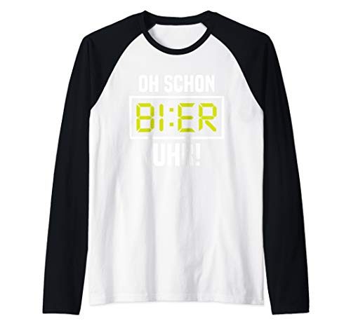 Oh Schon Bier Uhr Lustiges Alkohol Malle Partyurlaub Bier Raglan