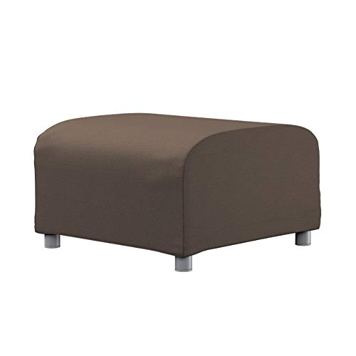 Dekoria Klippan Hockerbezug Sofahusse passend für IKEA Modell Klippan braun