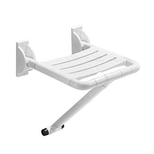 Z-SEAT Klappbarer Duschsitz, an der Wand montierter ABS-Badezimmer-Duschhocker mit Edelstahlbein, Gangwandstuhl, max. 250 kg, für ältere behinderte Schwangere Frauen, Schuhwechselhoc