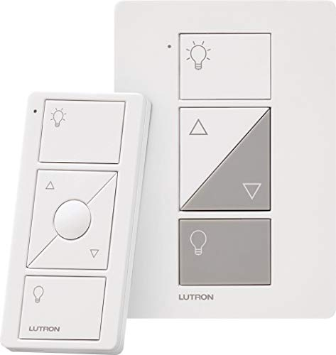 Lutron Caseta Smart Home Plug-in Lamp Dimmer Switch and Pico Remote Kit, Works with Alexa, Apple HomeKit, and The Google Assistant | P-PKG1P-WH | White Dimmer Switches