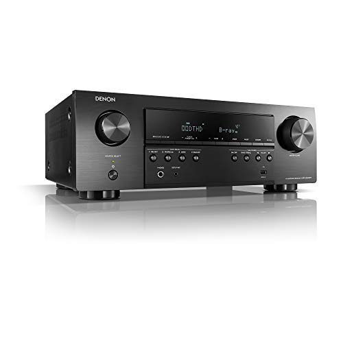 Denon AVR-S540BT-R Receiver, 5.2 Channel, 4K Ultra HD Audio and Video, Home Theater System, Built-in Bluetooth and USB Port (Renewed) Black