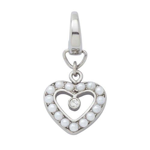 Fossil Damen-Charm Anhänger Perlen-Herz Glasstein JF86764040