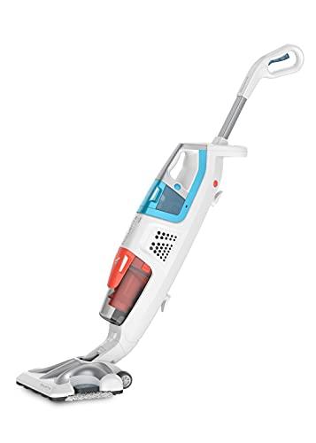 Rowenta Clean & Steam - Limpiador de Vapor 2 en 1 para Limpiar y Aspire al Mismo Tiempo con Vapor, Todos los Suelos y Todas Las Superficies Perforadas, Muchos Accesorios RY8544WH