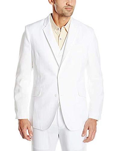 Retro White Linen Suit for Men Casual Wedding Suit for Men Seersucker Suit Slim Fit 3 Pieces Jacket Blazer Groom Tuxeo Beige